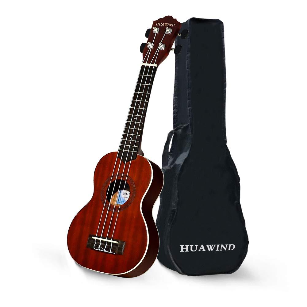 Soprano Ukulele Beginner Kid 21 inch Wood Ukelele with Gig Bag Instrument Small Hawaiian Guitar Ukalalee for Kids Beginners Adults Uke Starter Kit