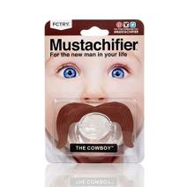 FCTRY Hipsterkid Mustachifier - Infant & Toddler Orthodontic Mustache Pacifier - BPA Free - Funny Gift for Newborn & Baby Shower