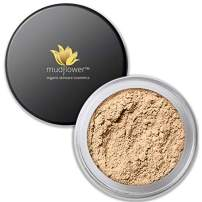 Mudflower Cosmetics Organic Powder Makeup Foundation, Light Medium, 1.0 ounce