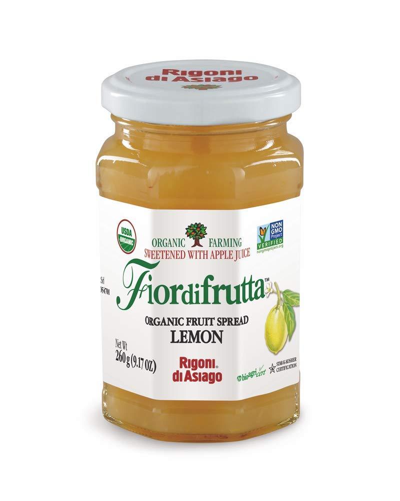 Rigoni di Asiago Fiordifrutta Organic Fruit Spread, Lemon, 6 Count