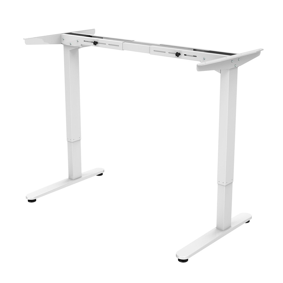 "FlexiSpot 48"" Electric Height Adjustable Standing Desk Frame Only Ergonomic Solid Steel Dual Motor Sit Stand Desk W/ 7-Button, White"