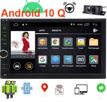 EINCAR Android 10.0 Car Stereo 7 Inch Double Din Car Radio with GPS Navigation System 2GB RAM in Dash Headunit 2 Din Car Video Audio Player Bluetooth WiFi SWC Mirror Link Wireless Rear View Camera