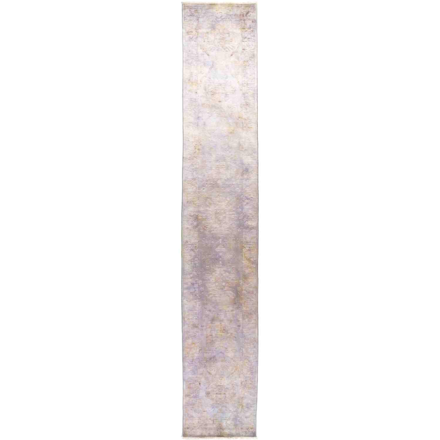 """Solo Rugs Vibrance Orlando One of a Kind Hand Knotted Area Rug, Powder Lavender, 2' 7"""" x 15' 10"""""""