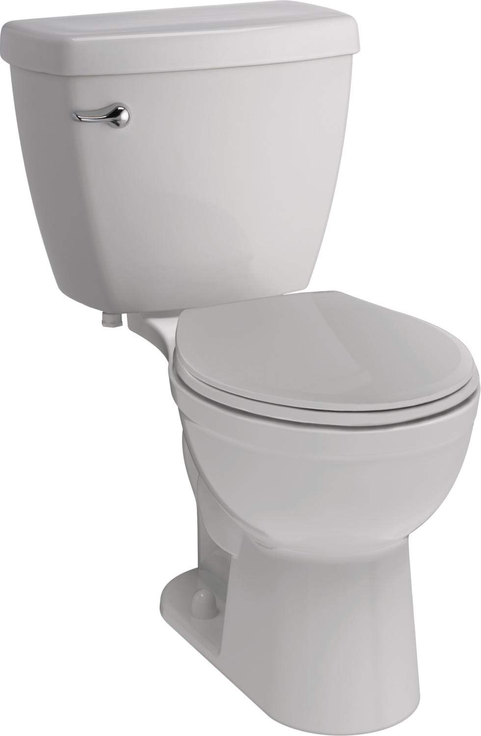Delta Faucet Haywood White Round-Front Toilet with Slow-Close Toilet Seat, Comfort Chair Height, 1.28 GPF, White