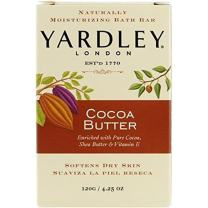 Yardley London Pure Cocoa Butter & Vitamin E Bar Soap, 4.25 Ounces /120 G (Pack of 3)