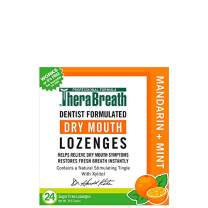 TheraBreath Dry Mouth Lozenges, Mandarin Mint Flavor, 24 Lozenges