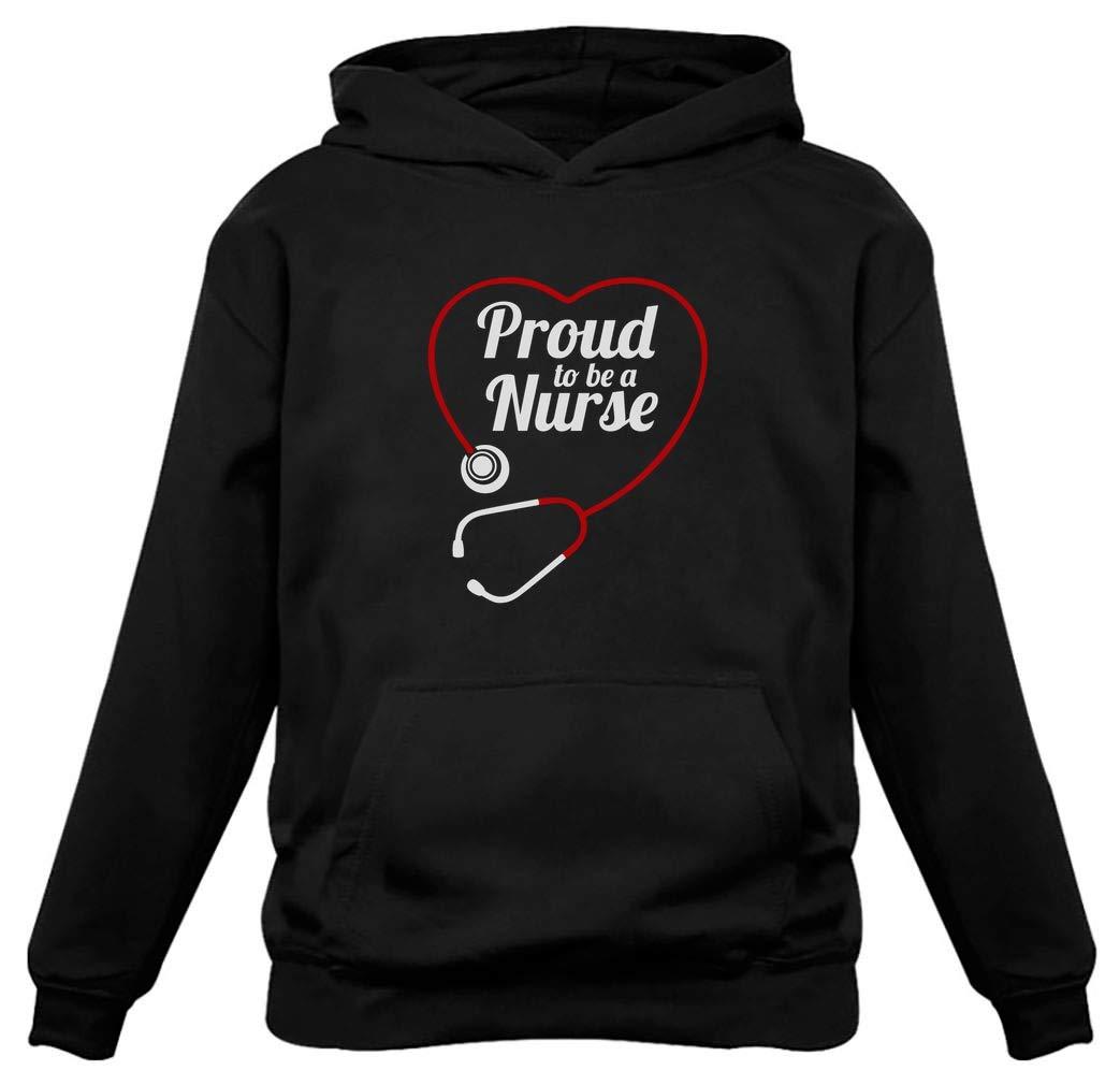 TeeStars - Proud to Be a Nurse - Best Gift for Nurses Women Hoodie
