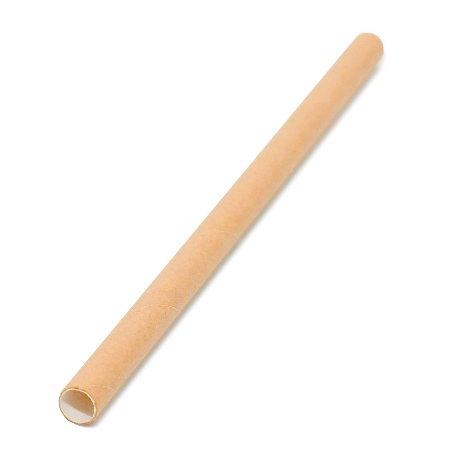"""MarZ Explore MarZ 5"""" x .25"""" Inch Kraft Paper Cocktail Straws Eco-friendly Compostable Biodegradable FDA Approved, Value Pack 200 pcs. per polybag (Natural Kraft Brown)"""