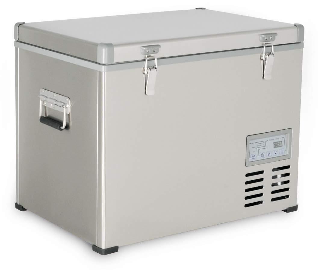 Kalamera 1.6 Cu. ft 47 Quart Portable Refrigerator/Freezer Stainless-steel AC 110V / DC 12/24V