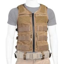 Atlas 46 AIMS Saratoga Vest Universal Chest Rig - Standard, Coyote | Made in The USA