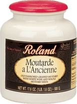 Roland Moutarde a L'Ancienne (Grained Mustard with Whole Mustard Seeds), 17.6-Ounce Stone Jugs (Pack of 2)