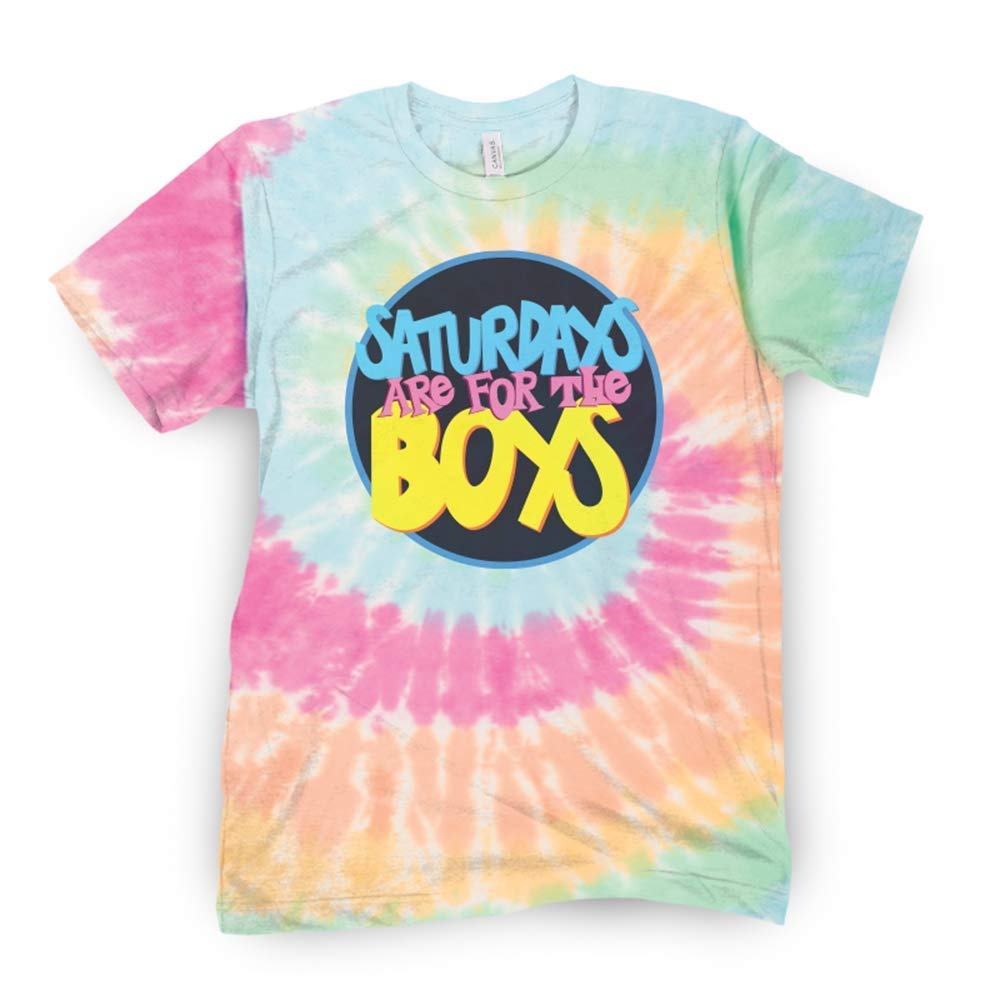 SATURDAYS ARE FOR THE BOYS Tie Dye T-Shirt from Barstool Sports, Perfect for Tailgating, College Fraternities, Weekend Sports