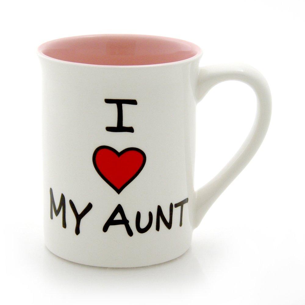 "Our Name is Mud ""I Heart My Aunt"" Stoneware Mug, 16 oz."