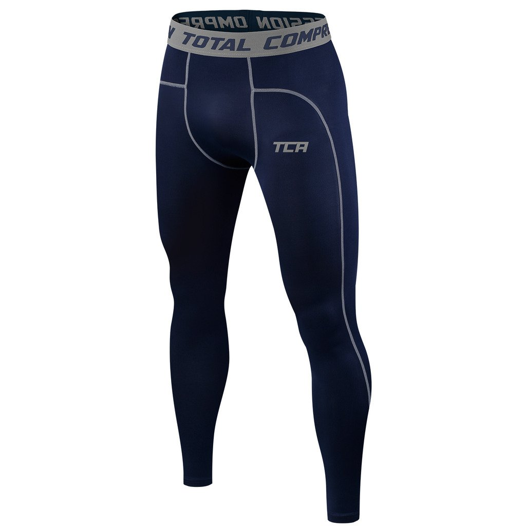 TCA Boy's Youth & Men's Pro Performance Compression Pants Base Layer Thermal Tights