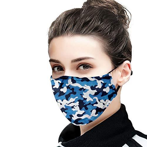Esabel.C Fashion Cotton Reusable Mouth and Nose Face Cover Anti Dust Face Print Balaclavas for Women Men