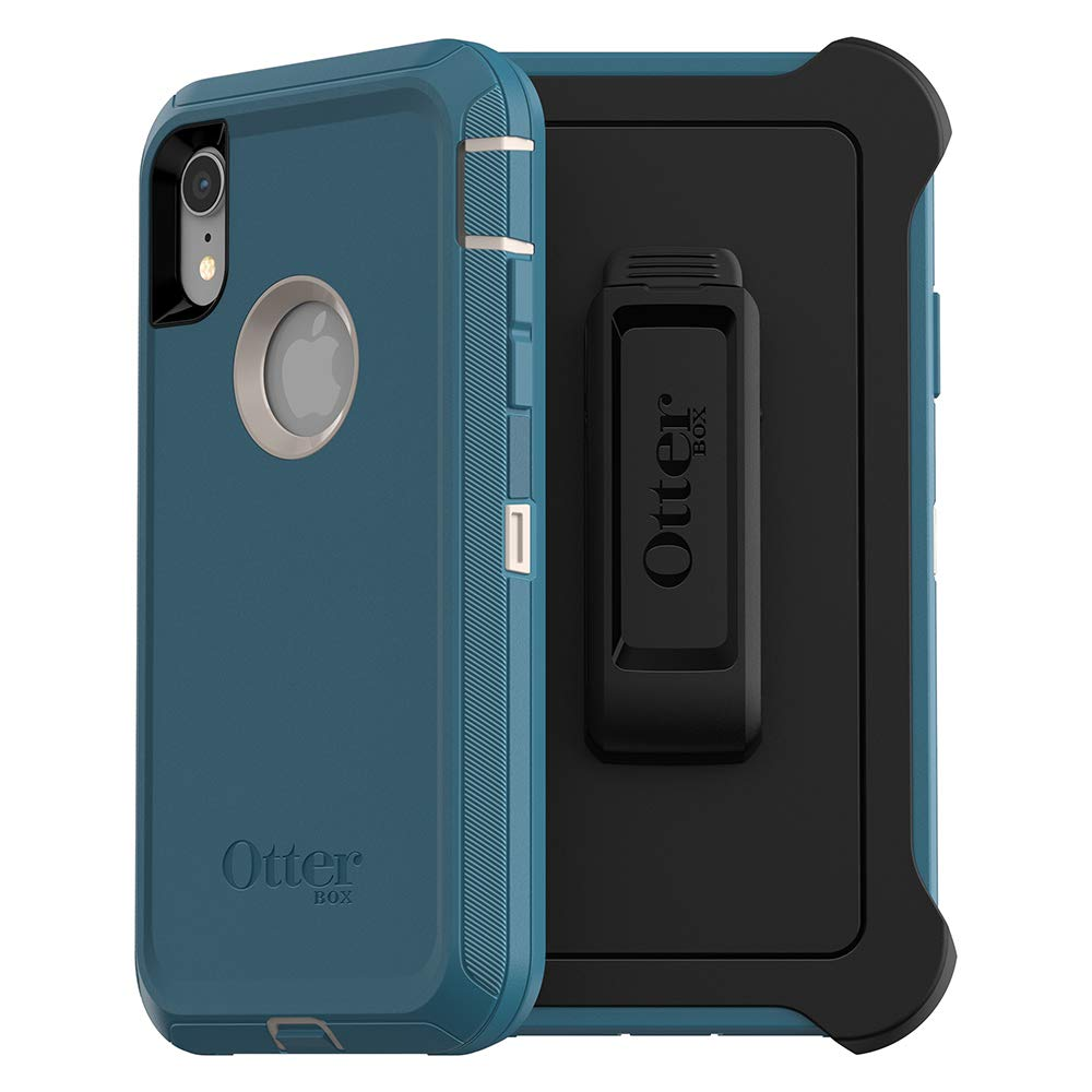 OtterBox DEFENDER SERIES SCREENLESS EDITION Case for iPhone Xr - Retail Packaging - BIG SUR (CORSAIR)