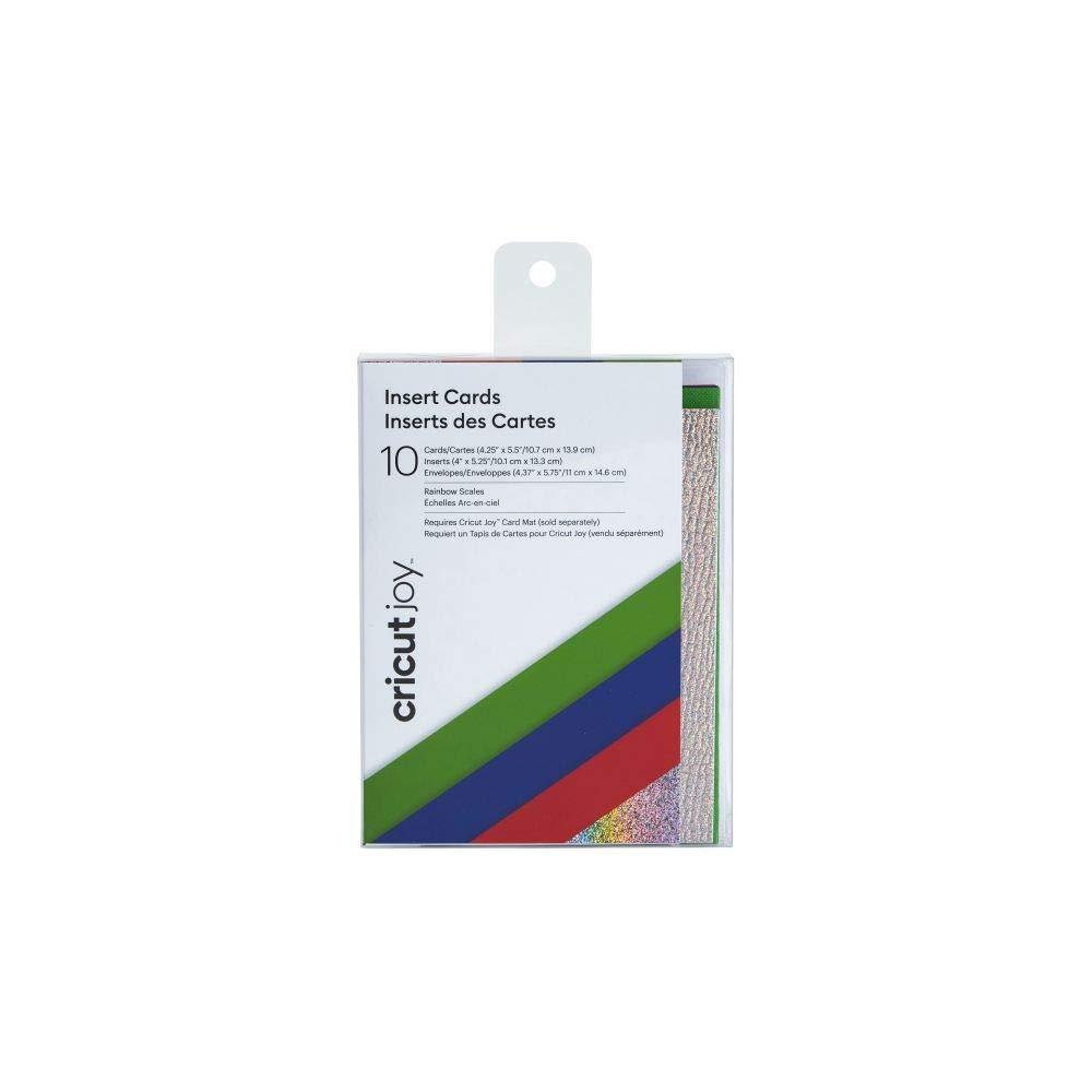 Cricut - 2007186 Joy Insert Cards - DIY greeting card for Baby Shower, Birthday, and Wedding  - Rainbow Scales Sampler, 10 ct
