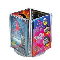 Azar 252321 Four Pocket Letter Size Holder on Revolving Base, 2-Pack