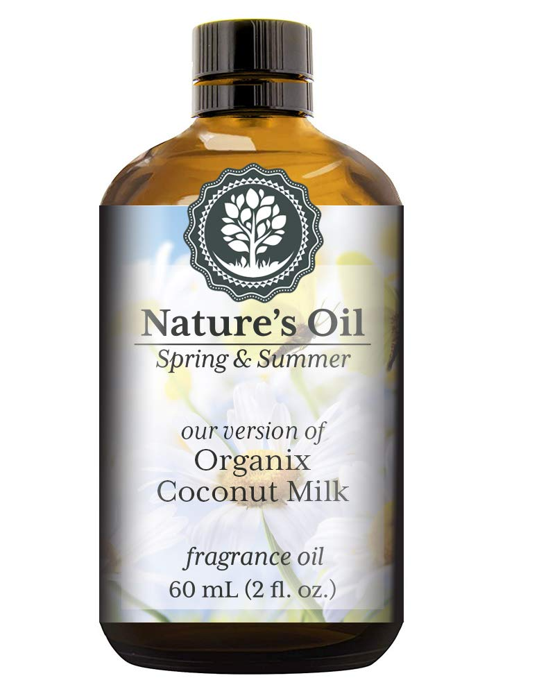 Organix Coconut Milk Fragrance Oil (60ml) For Diffusers, Soap Making, Candles, Lotion, Home Scents, Linen Spray, Bath Bombs, Slime
