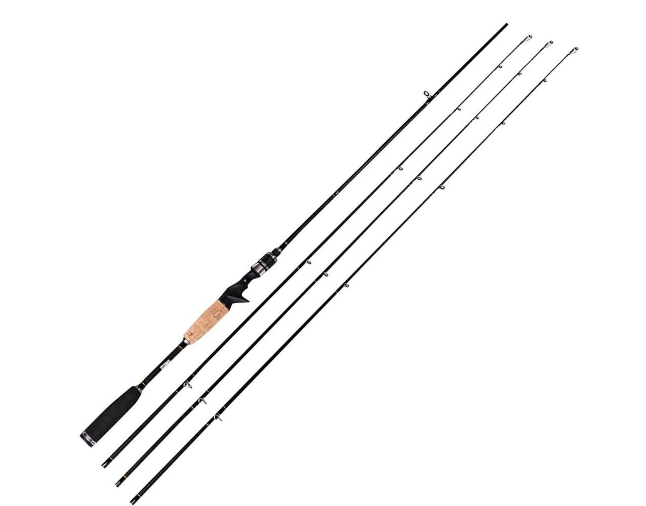 Entsport E Series - Rattlesnake 2-Piece 7-Feet Casting Rod with 3 Top Pieces Graphite Baitcasting Fishing Rod Portable Baitcast Rod Baitcaster (Medium Heavy, Medium and Medium Light)