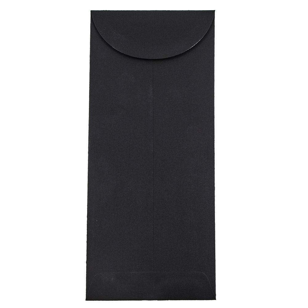 JAM PAPER #12 Policy Business Premium Envelopes - 4 3/4 x 11 - Black Linen - 100/Pack