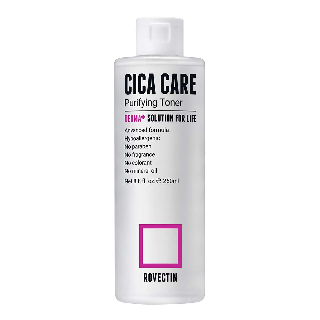 Rovectin Cica Care Purifying Toner - Soothing Facial Toner For Sensitive and Irritated Skin with Houttuynia Cordata Extract and Madecassoside (8.8 Fl. oz)