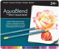Spectrum Noir SPECAB-FLO24 AquaBlend Watercolour Pencil Set-Florals