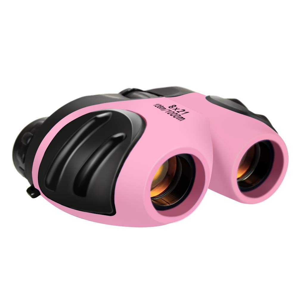 Gifts for 4 5 6 7 8 Year Old Girls, KITY Compact Binocular for Kids Toys for 3-12 Year Old Girls Boys 2019 New Gifts Xmas Gifts for 3-12 Year Old Girls Boys-Pink