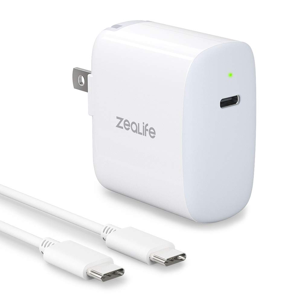 USB C Wall Charger 30W, ZeaLife USB Type C Power Adapter Fast Brick for Thunderbolt 3 Charging Port MacBook Retina 12 inch, MacBook Air 2018 3rd Generation iPad Pro and More USB-C Devices
