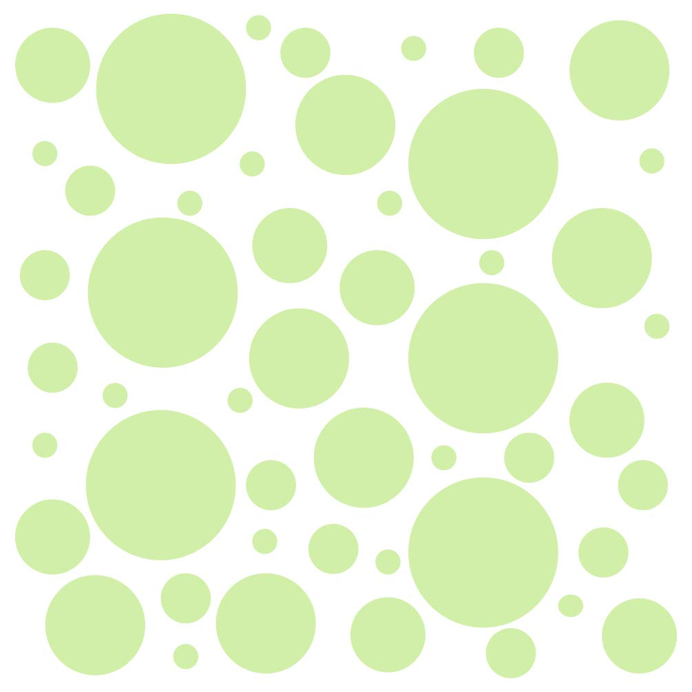 Set of 300 (Baby Green) Vinyl Wall Decals - Assorted Polka Dots Stickers - Removable Adhesive Safe on Smooth or Textured Walls - Round Circles - for Nursery, Kids Room, Bathroom Decor