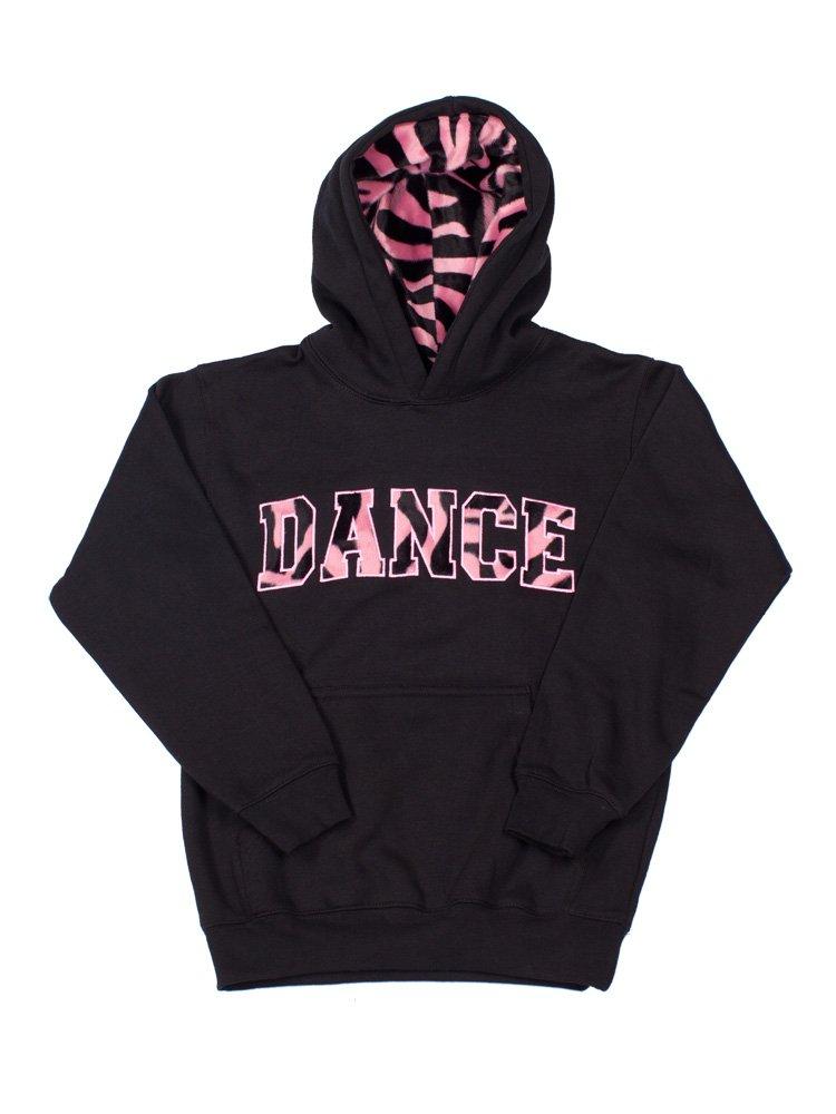 Lizatards Girls Dance Sweatshirt Hoodie Animal Fur Lined Pullover Dance Hoodie