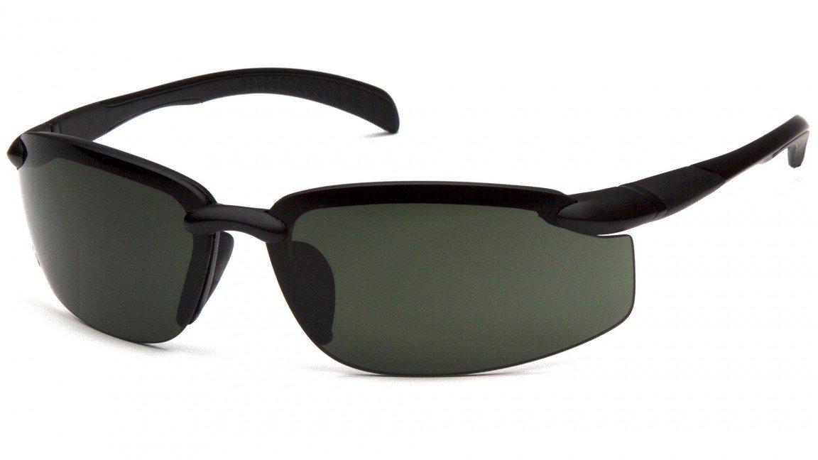 Venture Gear VGSB1126DB Waverton Safety Glasses, Black Frame/Forest Gray Lens