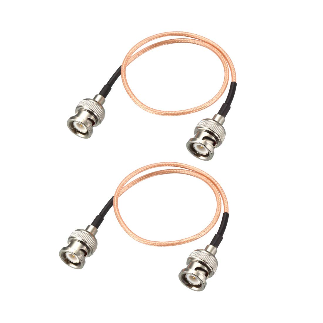 uxcell BNC Male to BNC Male Coax Cable RG316 RF Coaxial Cable 50 Ohm 1.5 Feet 2pcs for Video Signals,CCTV,DVR,Camera