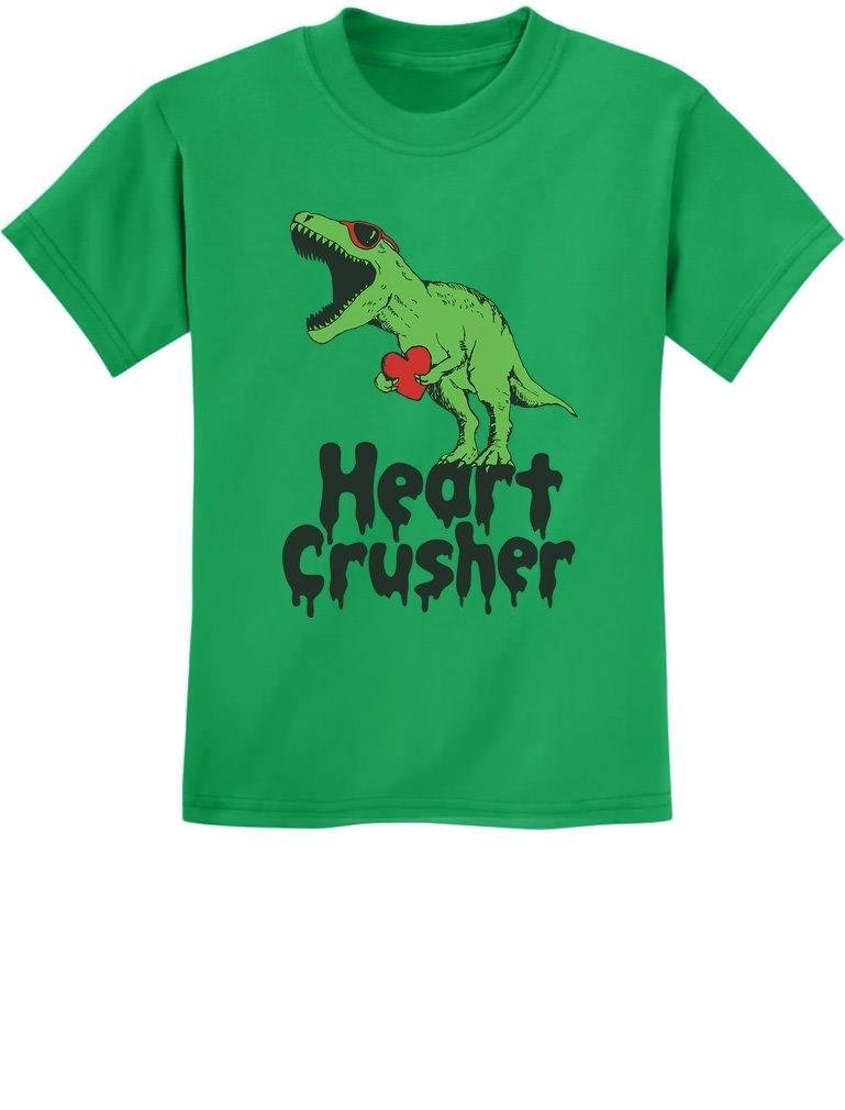 TeeStars - Heart Crusher T-Rex Love Youth Kids T-Shirt