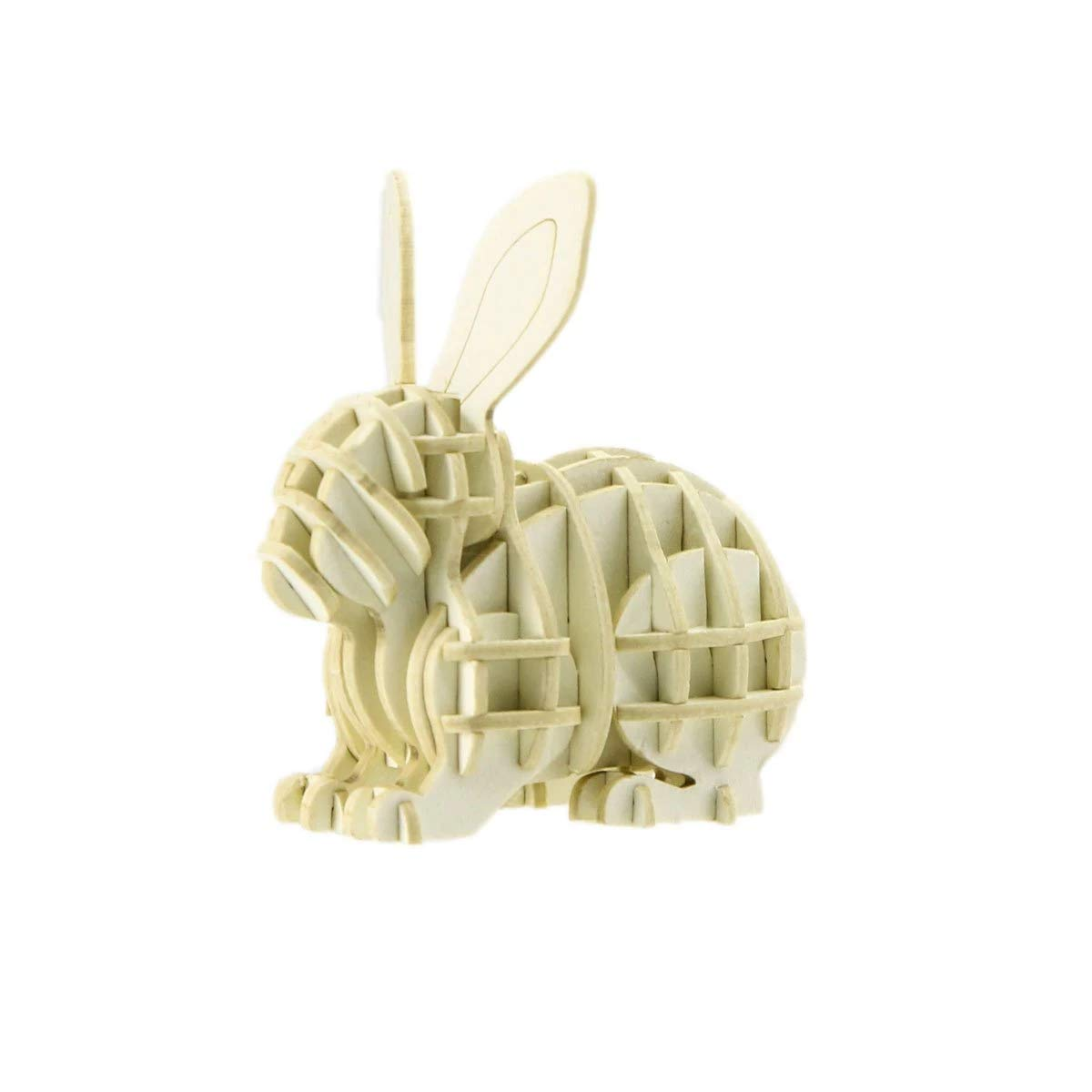 JIGZLE Rabbit Paper 3D Puzzle - Laser Cut Miniature Animal Craft Kit for Kids and Adults - Birthday Gift and Party Favor for Puzzle and Origami Paper Craft Enthusiasts