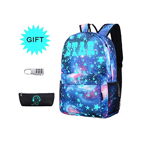Simbow School Backpack Bag Daypack Girls Boys Anti-Theft Lock Pencil Bag