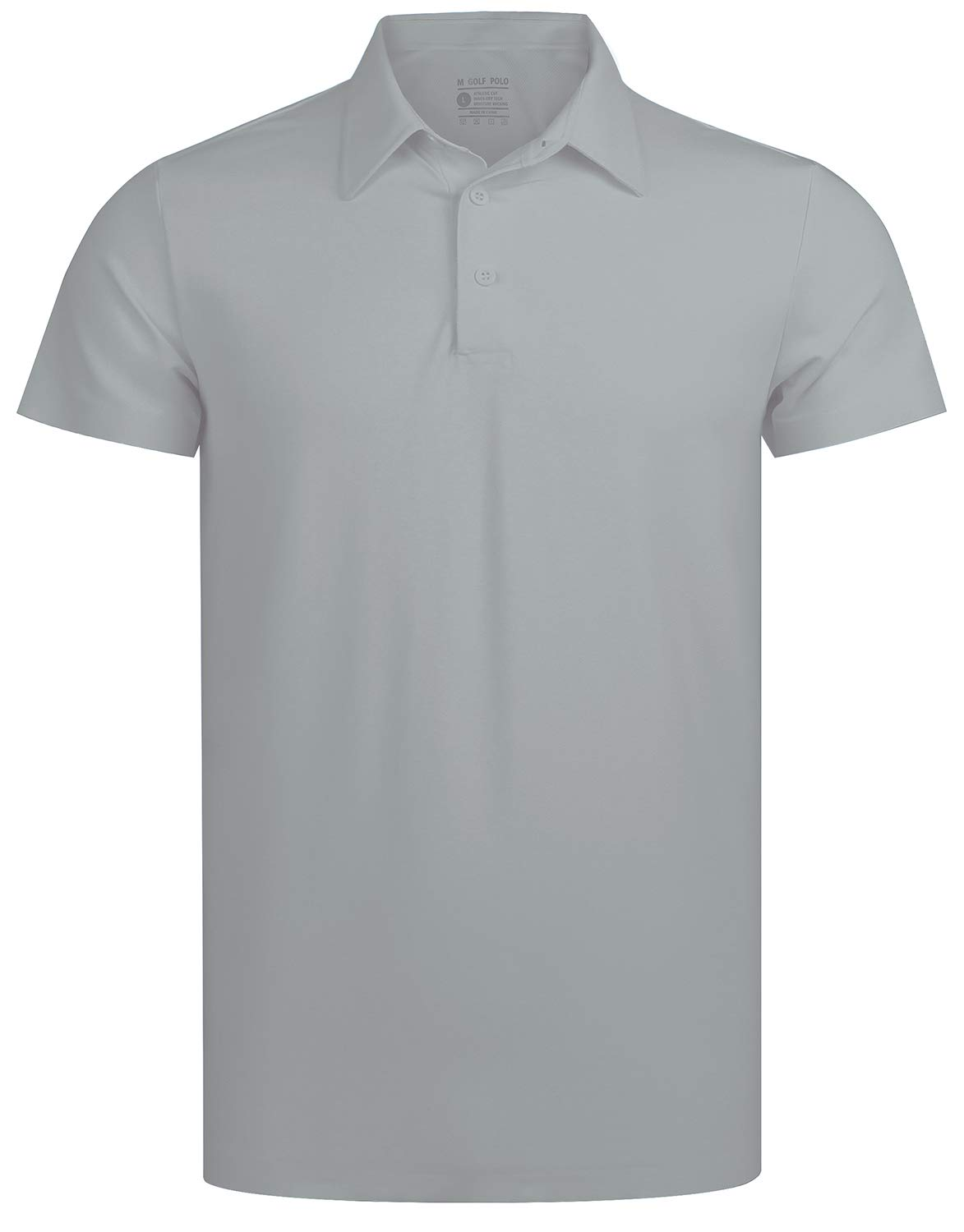 Seamless Golf Shirts for Men | Tennis Solid Polo Shirt Quick-Dry Slim Fit Collared T-Shirt