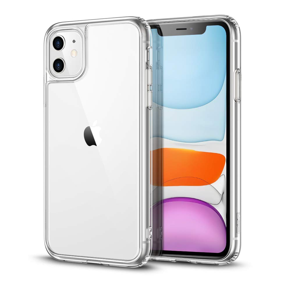 """ESR Clear Designed for iPhone 11 Case, Hard Back + Soft TPU Frame [Scratch-Resistant] [Shock-Absorbing Soft Bumper] [Reinforced Drop Protection] Clear Case for iPhone 11 6.1"""", Clear"""