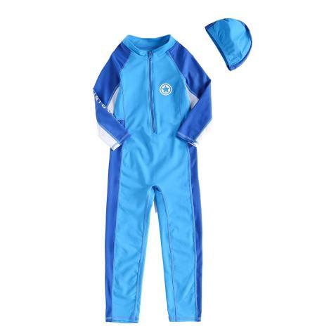 Vivobiniya Kids Swimsuits Baby Girl Full Body Swimsuit Contrast Color upf50+