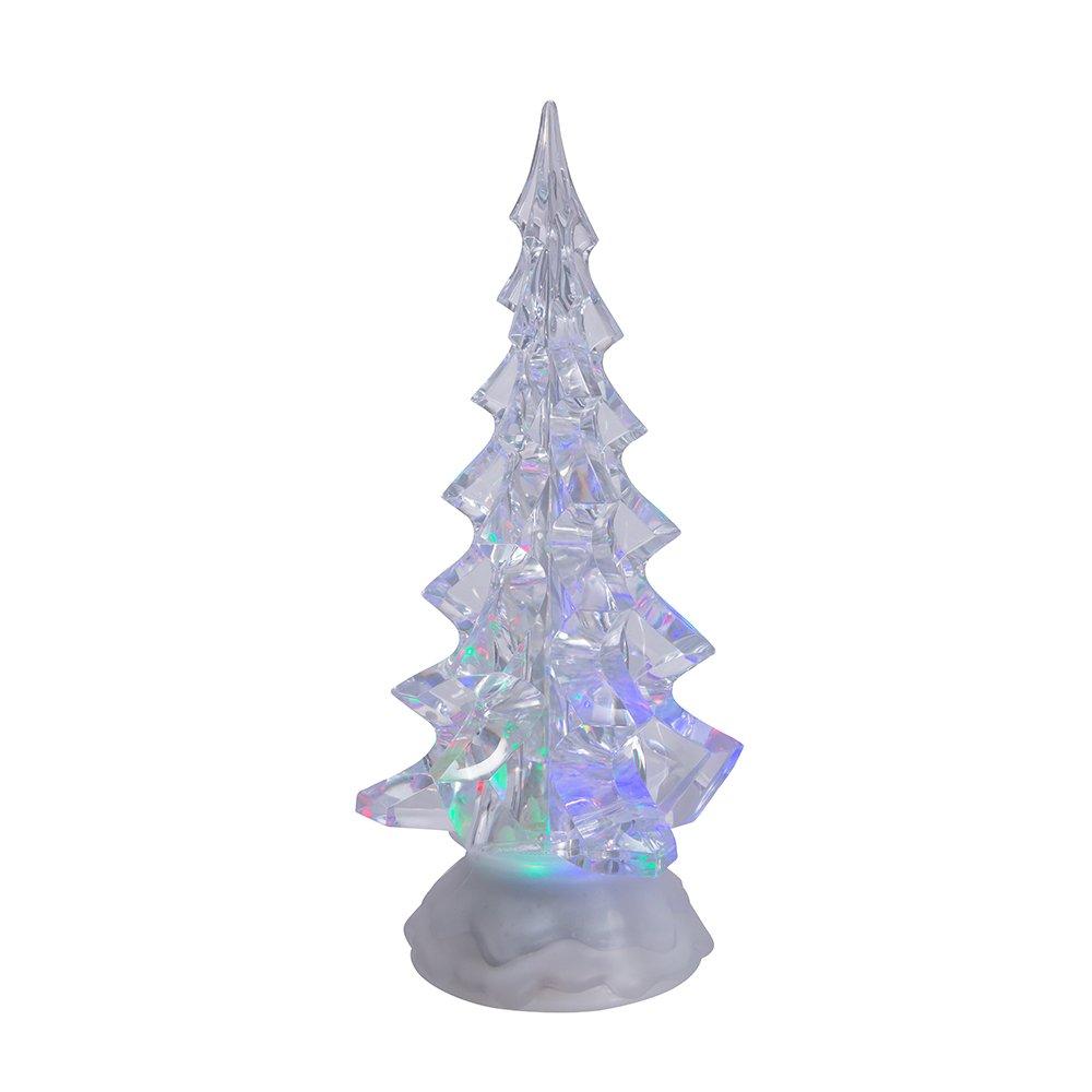 Kurt Adler Battery Operated Acrylic Lighted Christmas Tree, 10-Inch