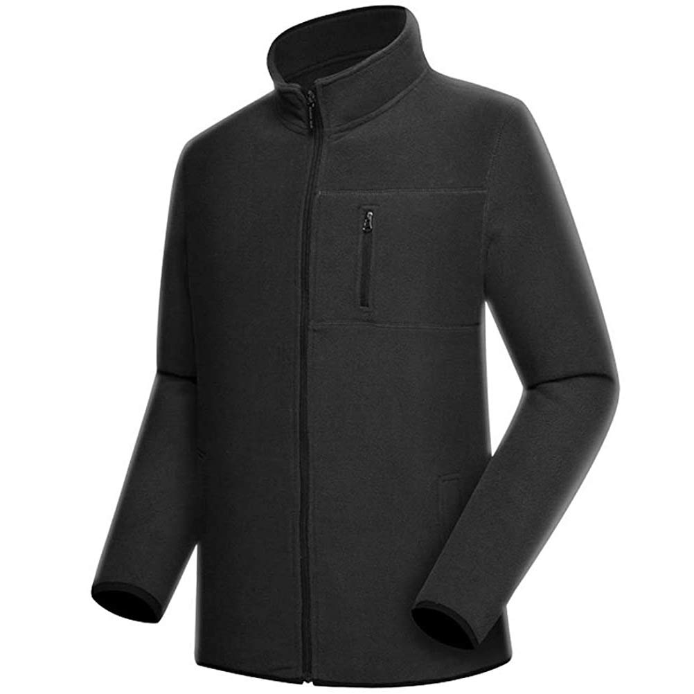 Mens Fleece Jacket Full Zip Casual Outwear Sweatshirt for Men Spring Fall and Winter Outdoor Sportwear Coats