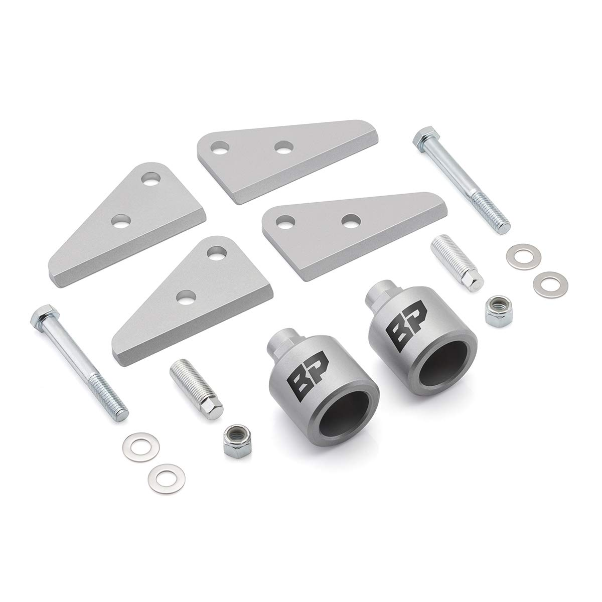 "BlackPath - Fits Polaris 2"" Front + Rear Lift Kit Ranger 500 + 700 ATV Suspension Lift (Silver) T6 Billet"
