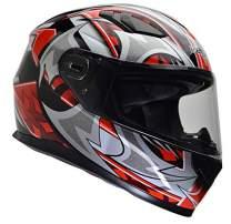 Vega Helmets 6115-036Ultra Full Face Helmet for Men & Women (Red Shuriken Graphic, 2XL)