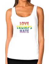 Love Trumps Hate LGBT Tank Gay & Lesbian Pride Anti Trump Women Tank Top
