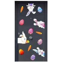 Omgouue Easter Stickers Bunny Egg Prints Decorations - Window Stickers Egg Decals Art Supplies & Decorations Home Party Ornaments (Can be Removed)