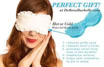 Best Sleeping Mask Warm Cold Compress Water Gel Beads Beauty Eye Mask soothes Pink Eye Sore Muscles Puffy Eyes Dark Circles Headache Stress Blackout Sleep Aid Cotton DeBora Rachelle (ONE Size Ivory)