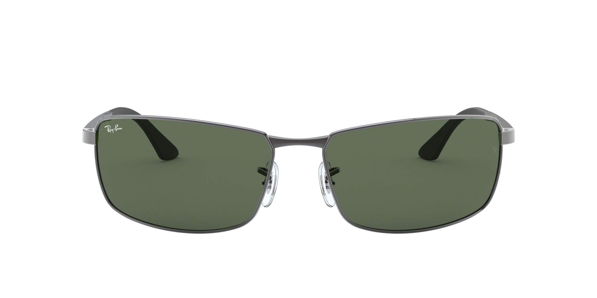 Ray-Ban Men's RB3498 Rectangular Metal Sunglasses
