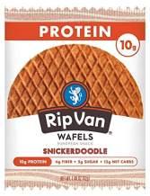 Rip Van Wafels Snickerdoodle Stroopwafels - High Protein Snacks (10g Protein) - Non GMO Snack - Keto Friendly - Office Snacks - Healthy Snacks - Low Sugar (5g) - 48 Pack
