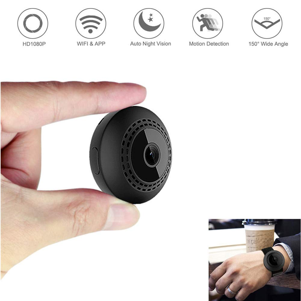 Mini spy Camera with Night Light, Full HD 1080P Hidden Cam USB Charger for Home Security, Motion Detection Night Vision Support PC/iOS/Android (White)