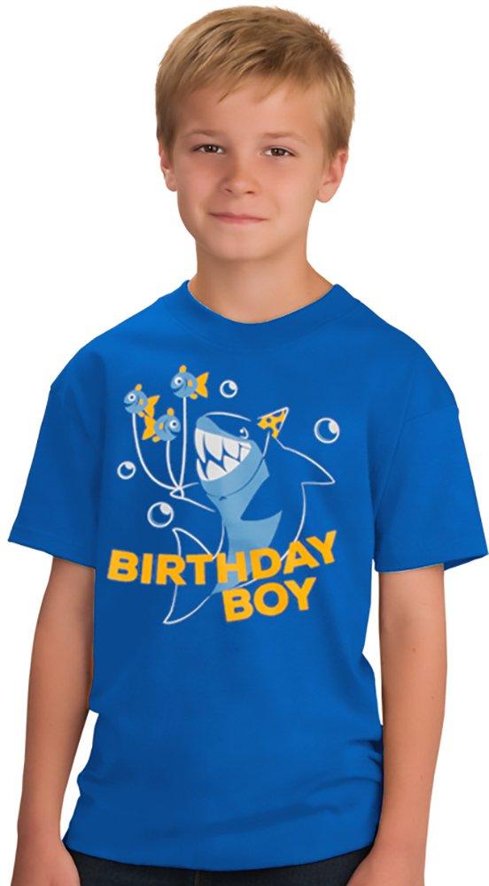 Birthday Boy Shark   Ocean Themed Shark & Fish B-Day Party Youth T-Shirt